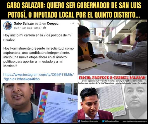 GABO SALAZAR_ QUIERO SER GOBERNADOR DE SAN LUIS POTOSÍ, O DIPUTADO LOCAL POR EL QUINTO DISTRITO...