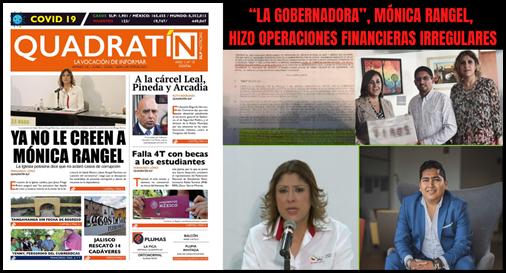 """""""LA GOBERNADORA"""", MÓNICA RANGEL, HIZO OPERACIONES FINANCIERAS IRREGULARES"""