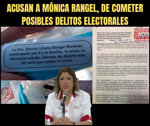 ACUSAN A MÓNICA RANGEL, DE COMETER POSIBLES DELITOS ELECTORALES