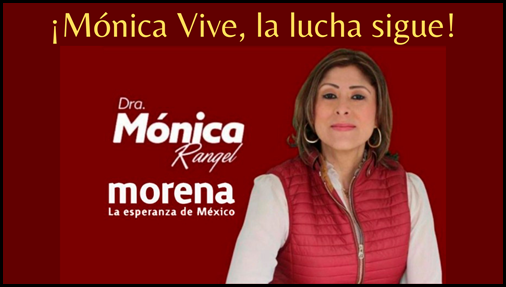 ¡Mónica Vive, la lucha sigue!