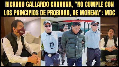 """RICARDO GALLARDO CARDONA, """"NO CUMPLE CON LOS PRINCIPIOS DE PROBIDAD, DE MORENA"""": MDC"""