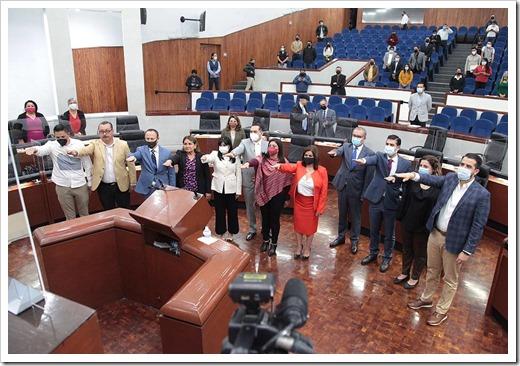 Rinden protesta integrantes de Comisiones Jurisdiccionales
