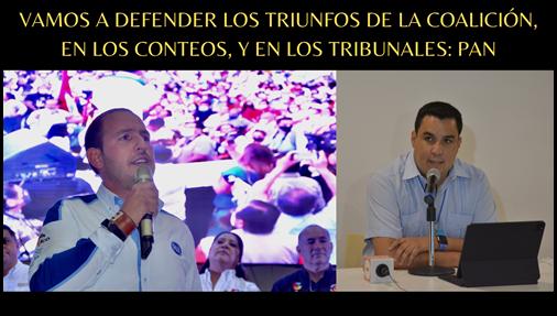 VAMOS A DEFENDER LOS TRIUNFOS DE LA COALICIÓN, EN LOS CONTEOS Y EN LOS TRIBUNALES: PAN