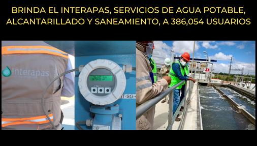 BRINDA EL INTERAPAS, SERVICIOS DE AGUA POTABLE, ALCANTARILLADO Y SANEAMIENTO, A 386,054 USUARIOS