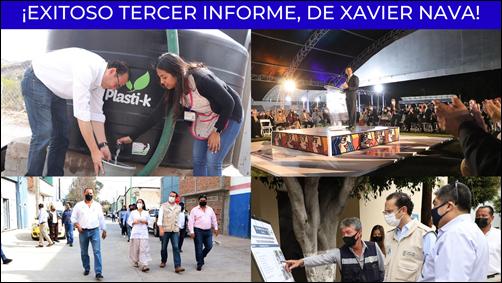 ¡EXITOSO TERCER INFORME DE XAVIER NAVA!